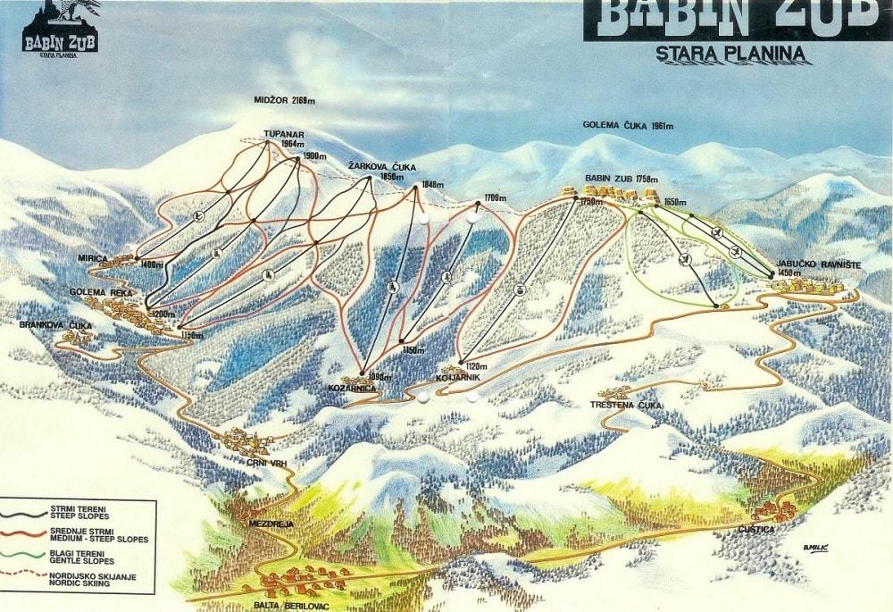 карта трасс Бабин Зуб