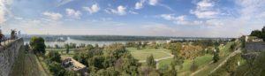 Вид на Дунай со стен Белградской крепости