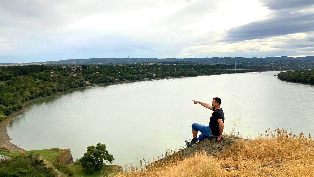 Вид на Дунай со стен Петроварадинской крепости