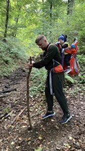 пеший трекинг в парке фрушка гора