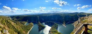 Панорама на каньон Увац в Сербии
