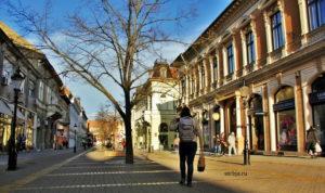 Главная пешеходная улица Суботицы Корзо