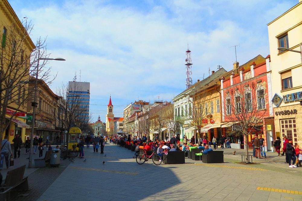 Улица короля Александра в Зренянине