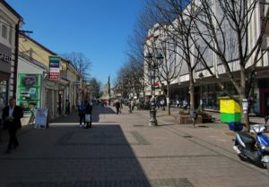 Главная пешеходная улица Кралево