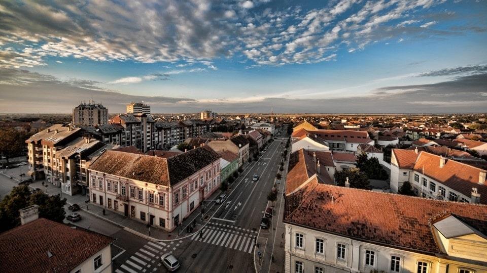 Вид на Вршац и главную улицу